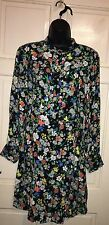 TOPSHOP RETRO FLORAL DOLL DRESS UK SIZE 10 EUR 38US 6