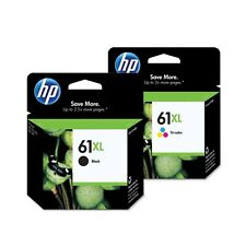 2 GENUINE HP 61XL 61 CH563WN BLACK & Color Ink Cartridge Deskjet 3056a 3510