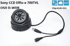 """Security 1/3"""" Sony Effio CCD 700TVL Lens 3.6mm IR 20m OSD Menu CCTV Dome Camera"""