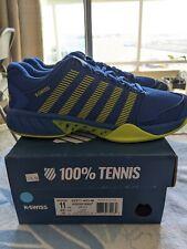 K-SWISS MEN'S HYPERCOURT EXPRESS TENNIS SHOE: Size 11 Blue/yellow 03377-453-m