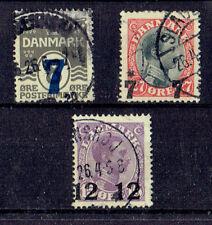 Dänemark o  MiNr 156 - 158 König Christian X Aufdruckmarken