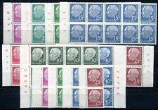 BUND 1954-1960 179-260y ** POSTFRISCH HEUSS LUMOGEN x10 +rote NR ca 800€(S7901