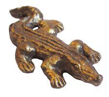 Figurine statuette crocodile caïman alligator bronze collection