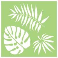 "Kaisercraft STENCIL 6x6"" Designer Template - 3 Large Tropical Leaves Fern Summer"