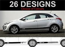 Hyundai i30 side stripes decals stickers both sides