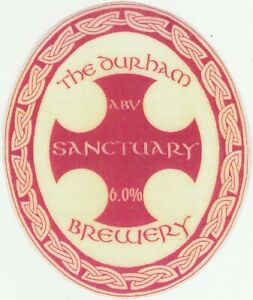 THE DURHAM BREWERY - SANCTUARY (2) - LAMINATED PUMP CLIP FRONT