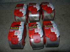 "6 new Scotch Packaging Tape 1.88"" x 1800"" ( 50 yards ) with Dispenser shipping"