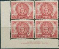 Australia 1945 SG216 2½d Mitchell block MNH