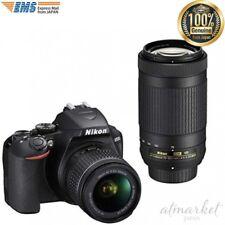 Nikon DSLR Digital camera D3500 double zoom kit Black D3500WZ