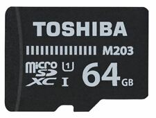 Toshiba 64GB M203 Class 10 Micro SDHC UHS-I U1 Memory Card with SD Card Adapter