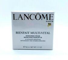 Lancome Bienfait Multi Vital 24 Hr Moisturization Sunscream Spf 30 - 1.7 oz  Box