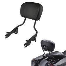 Detachable Backrest Sissy Bar Matte Black For 2009-2018 Harley Touring Models