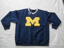 Authentic Champion Michigan Wolverines STITCH Football Hot Jacket Men L TAG NEW