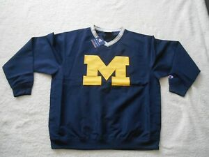 Authentic Champion Michigan Wolverines STITCH Football Hot Jacket Men L TAG NEW