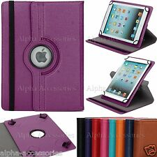 "Universal 7"" Leather Case 360 Rotating Stand Cover For 7 Inch Android Tablets"