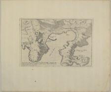 Ville FRANCHE Original Kupferstich Landkarte 1710 Hafen Côte d'Azur Frankreich