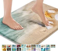Britimes Bath Mats for Bathroom, Bathroom Mats Rugs No Silp, Beach Starfish Sea