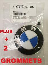 BMW Hood roundel emblem logo replacement hood 82mm + 2 Grommets for ALL Models B