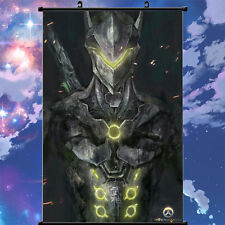 Anime Poster Cosplay Game Overwatch Genji Home Decor Wall Scroll Painting 60*90