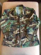 US MILITARY ARMY CAMO CAMOUFLAGE JACKET USED Size Medium XX Short