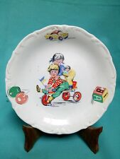 LOVELY VINTAGE BAVIERA PORCELAIN MADE IN ARGENTINA CHILDREN PLAYING PLATE