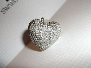 Genuine SWAROVSKI Crystal HEART LOCKET Pendant