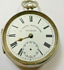 Antique solid silver gents H. Samuel  Manchester pocket watch NOT WORKING