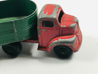 Vintage Red Green Ralstoy Truck & Trailer Toy car 3 4 farm tractor
