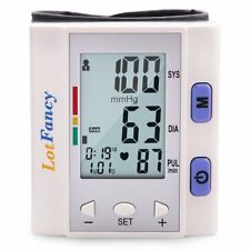 Lotfancy FDA Approved Auto Digital Wrist Blood Pressure Monitor with Case 30x4 Memories,Last 3 Results Average