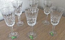 6 WATERFORD CRYSTAL SHERRY PORT GLASSES