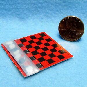 Dollhouse Miniature Checkers Game Board ~ IM65240