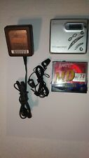 Sony MZ-R500 MD Player Recorder Mini disc-Silver with acessories - Free Shipping