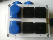 GARAGE,GARDEN DISTRIBUTION BOX  32AMP to 4 x 13A  & 4 x 16amp 240v sockets