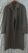 Vtg Gutteridge & Co 1878 Alpaca Coat Men's Long Overcoat 48R Naples Italy Small