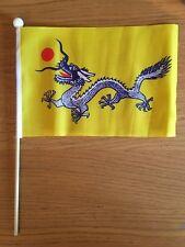 "CHINESE DRAGON Pack of 12 medium Hand Flags 9"" x 6"" 22cm x 15cm FLAG CHINA"