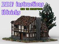 Lego MOC Tudor House Medieval Custom Model instructions, NO PARTS