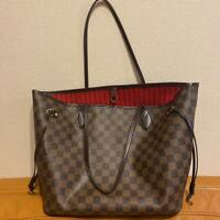 Louis Vuitton Damier Neverfull Tote Bag Brown Auth MM5014