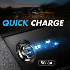 Mini Dual USB Smart Car Charger Adapter 3.1A Fast Charging For Mobile Phone GPS