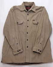 A45 Wolverine Flannel Lined Corduroy Jacket Camp Shirt Men's sz Large