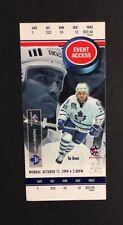 1999 Toronto Maple Leaf NHL Hockey Regular Season Ticket Vs Predators Tie Domi