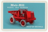 Playing Cards Single Card Old Boydell MUIR-HILL DUMPER Construction Advertising