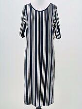 LuLaRoe Women's Black White Striped Julia Short Sleeve Dress Size XL NEW
