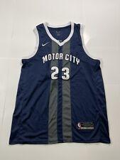 Detroit Pistons Blake Griffin #23 Motor City Nike Basketball Jersey Size Xl/52