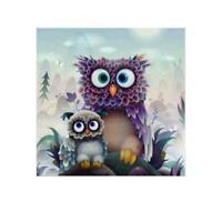 Owl DIY 5D Diamond Painting Embroidery Cross Stitch Home Kit New Decor W4G4
