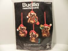Vintage Bucilla Koala Bears Christmas Ornament Needlepoint Kit #60592 NOS