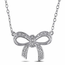 Amour Sterling Silver Diamond Necklace H-I I2-I3