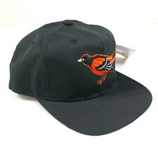 Vintage Baltimore Orioles Snapback Hat Cap Youth Size Black Orange Bird New Era