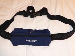 Pristine Fitletic Blue Mini Sports Belt Zip Pouch Running Walking