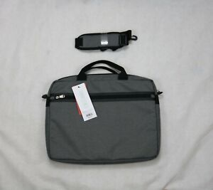 BLANKSLATE by Solo Bag Gray Slim Top Load Briefcase Laptop Zip-Top