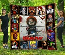 Chucky Child's Play Horror Movies Blanket Halloween Plush Fleece Blanket